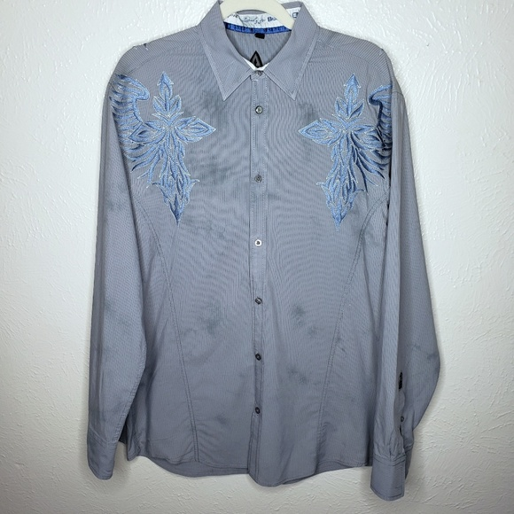 Roar Other - Roar strength refined embroidered cross gray blue